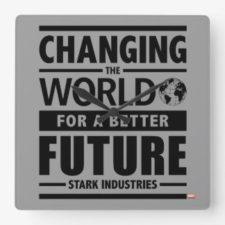 Stark Industries Changing The World Square Wall Clock