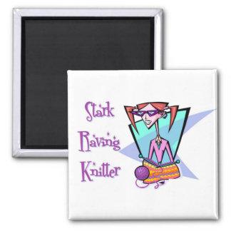 Stark Raving Knitter Magnet
