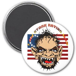 Stark-Raving-Mad-set-1 3 Inch Round Magnet