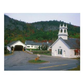 Stark Village New Hampshire Covered Bridge Postcard