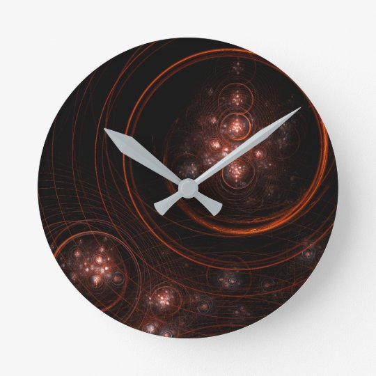 Starlight Abstract Art Round Clock