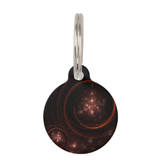 Starlight Abstract Art Round Pet Tag