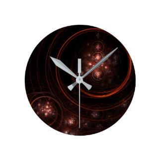 Starlight Abstract Art Round Round Clock