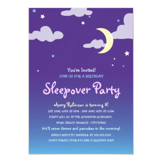 Starlight Birthday Sleepover Party Invitation