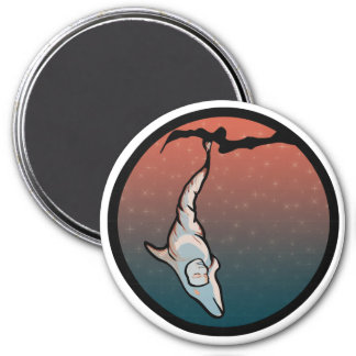 starlight dolphin cocoon 3 inch round magnet