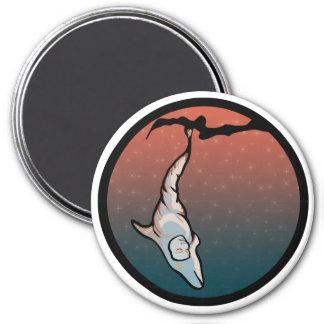 starlight dolphin cocoon fridge magnet