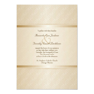 Starlight Golden Flare Monogrammed Elegant Wedding Card