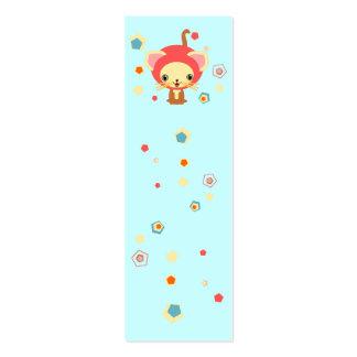 starlight kittten bookmark business card template