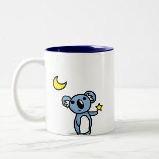 Starlight Koala - Blue Two-Tone Coffee Mug