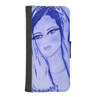 Starlight Mary - Blue - iPhone SE/5/5s Wallet Case