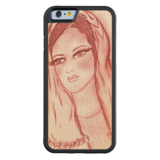 Starlight Mary in Red Carved Maple iPhone 6 Bumper Case