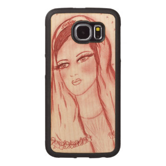 Starlight Mary in Red Wood Phone Case