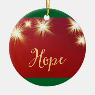 Starlit Hope Round Ceramic Ornament