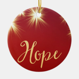 Starlit Hope with Name Holiday Ornament