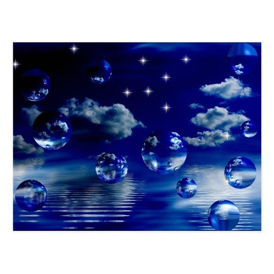 Starlit sky postcard