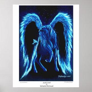 Starlit Stroll Pegasus Poster