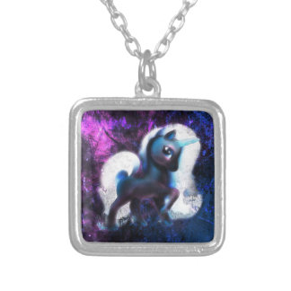 Starmist Unicorn Silver Plated Necklace
