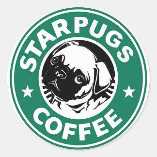 Starpug Coffee Classic Round Sticker