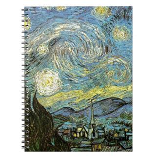 Starred night notebook