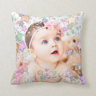 Starry Baby Photo Personalized Pillow