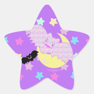 Starry Bats Star Sticker