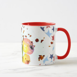 Starry Butterfly, red ringer 11oz coffee/tea mug