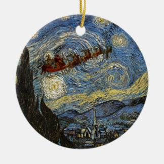 Starry Christmas Night Ornament