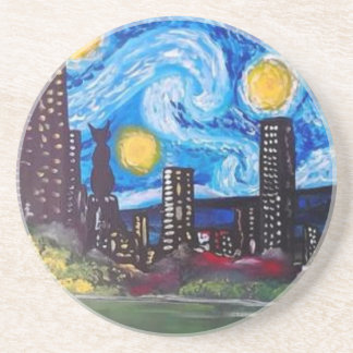 Starry City Meow Coasters