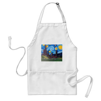 Starry City Meow Standard Apron