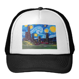 Starry City Meow Trucker Hat