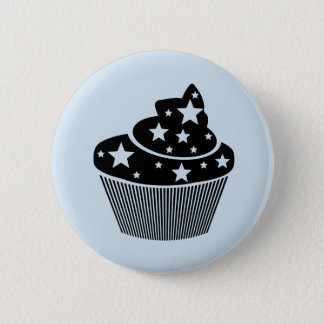 starry cupcake 2 inch round button