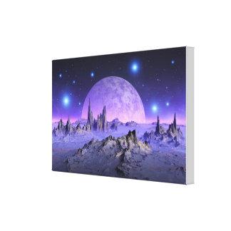Starry evening canvas print