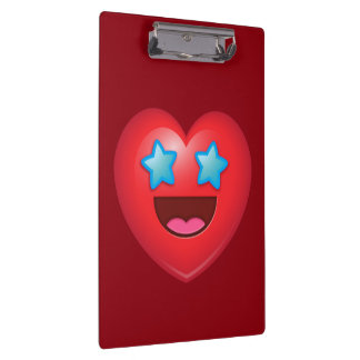 Starry Eye Heart Emoji Clipboard