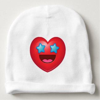 Starry Eyes Heart Emoji Baby Beanie