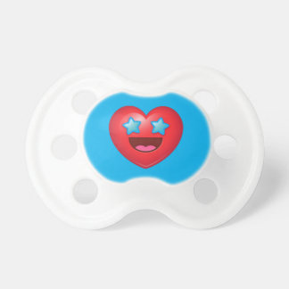Starry Eyes Heart Emoji Pacifier