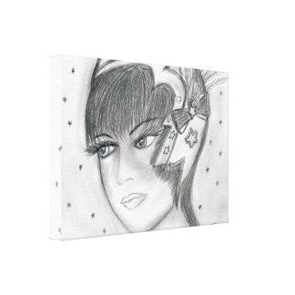 Starry Flapper Canvas Print