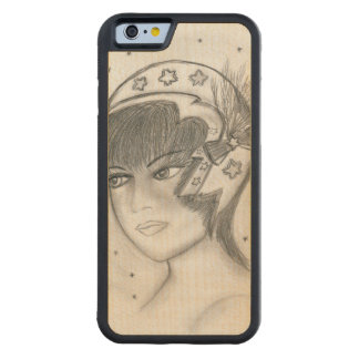 Starry Flapper Carved Maple iPhone 6 Bumper Case