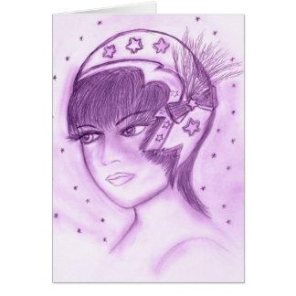 Starry Flapper in Purple Card