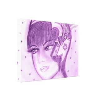 Starry Flapper - Purple Canvas Print