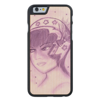 Starry Flapper - Purple Carved Maple iPhone 6 Case
