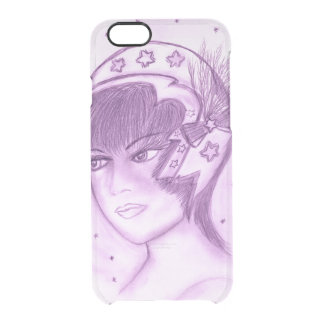 Starry Flapper - Purple Clear iPhone 6/6S Case