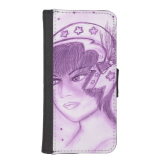 Starry Flapper - Purple iPhone SE/5/5s Wallet Case