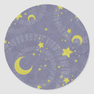 Starry Fortune Classic Round Sticker
