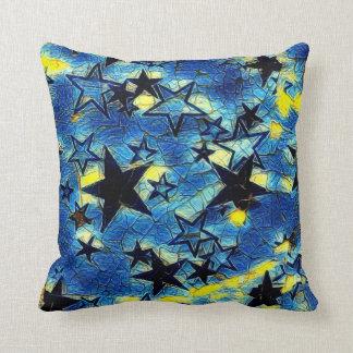 Starry Galaxy Throw Pillow