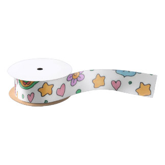 Starry Garden Thin Satin Ribbon