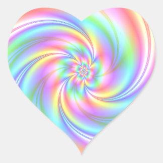 Starry Girl Pink Twirl Heart Stickers