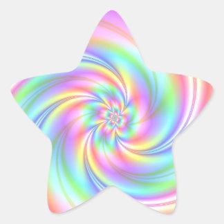 Starry Girl Pink Twirl Star Stickers