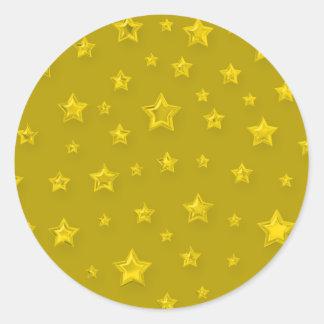 Starry Gold Sticker