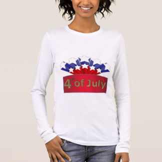 Starry Independence Day Women Long Sleeve T-Shirt