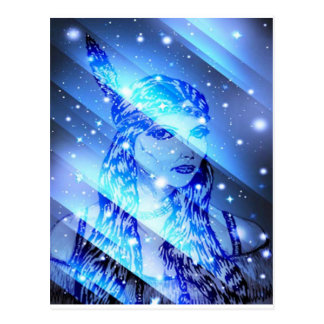 starry indian maiden.jpg postcard